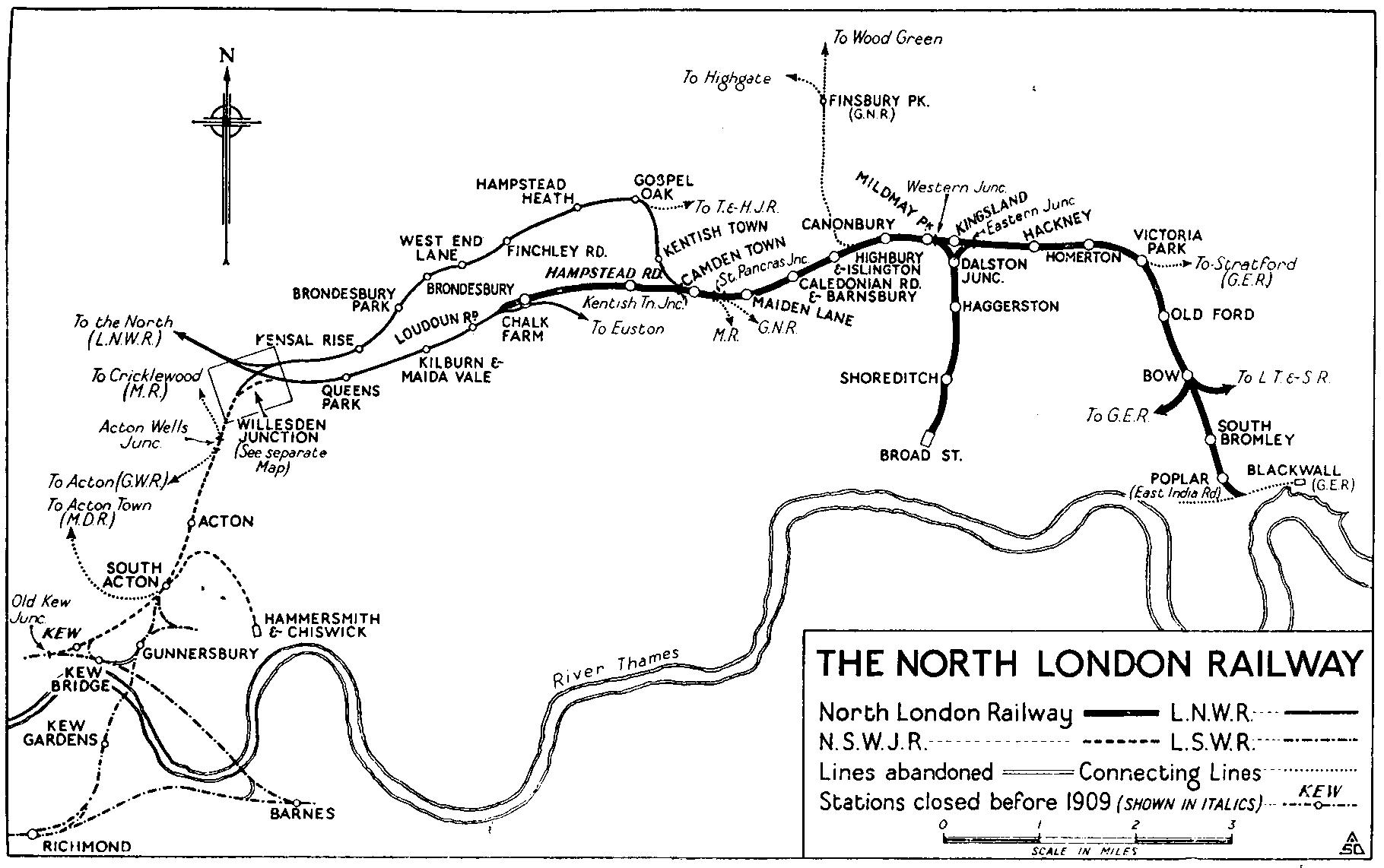 Map Of North London Uk.Nlrhs North London Railway Historical Society History